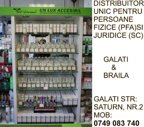 Partenerul si Distribuitorul de produse cosmetice de parfumerie de la Galati-Braila.