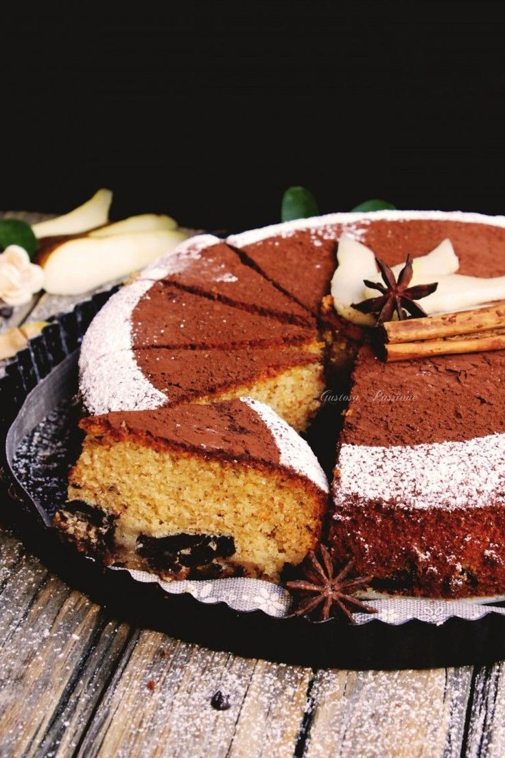 Cake alle pere cioccolato fondente e zenzero