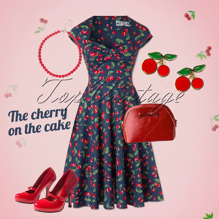 We just can't get enough of cute red cherries; the ultimate retro print!