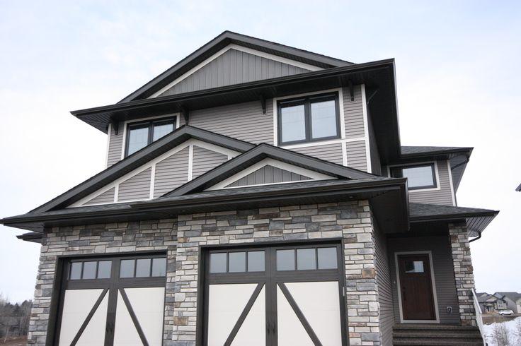 Front elevation, Stone, Carriage garage doors