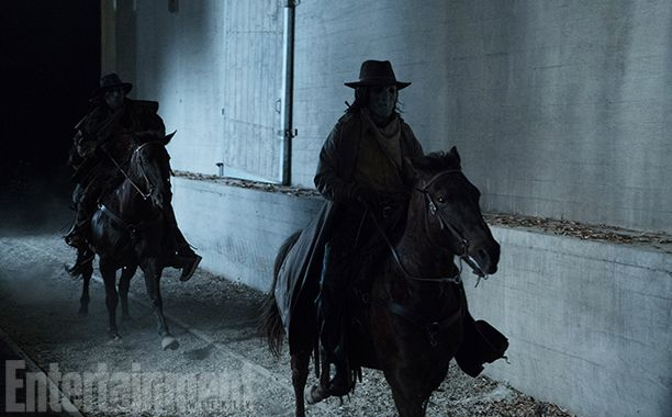 """EW has an exclusive first look at this year's big bad: The Ghost Riders. As part of the Wild Hunt mythology that was introduced last season, the Ghost Riders ride into town on horseback, and chances are, they'll ride out of town with a few new additions to their team. """"The idea is that the Wild Hunt passes through your town and if you see the Ghost Riders, they'll take you with them and make you part of the hunt,"""" Davis says. """"They pick up the dead as well."""