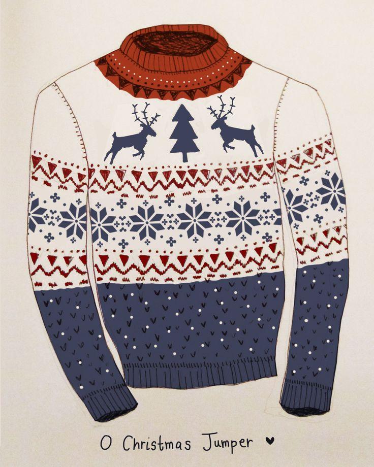 Christmas Nordic Jumper Illustration  Ugly Christmas Sweater illustration?