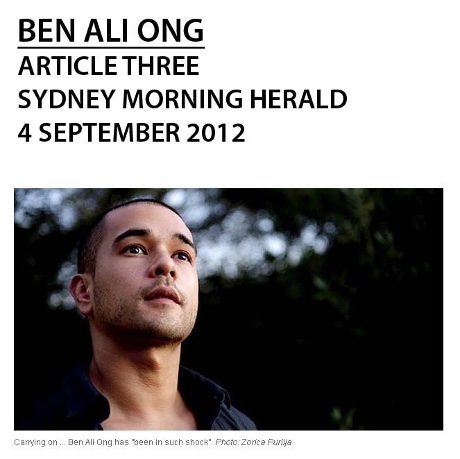 """The case of Ben Ali Ong; """"Artist says stock photos not meant to mislead"""" Adam Fulton, Arts Writer, SMH; (click photo for direct link to article)"""