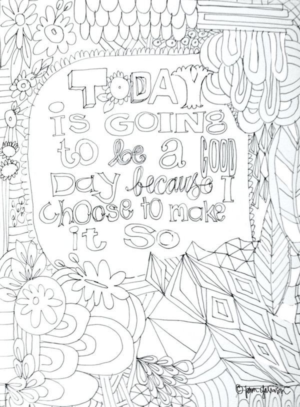 Printable Coloring Pages For Adults With Quotes : 126 best color art therapy quotes sayings and words images on