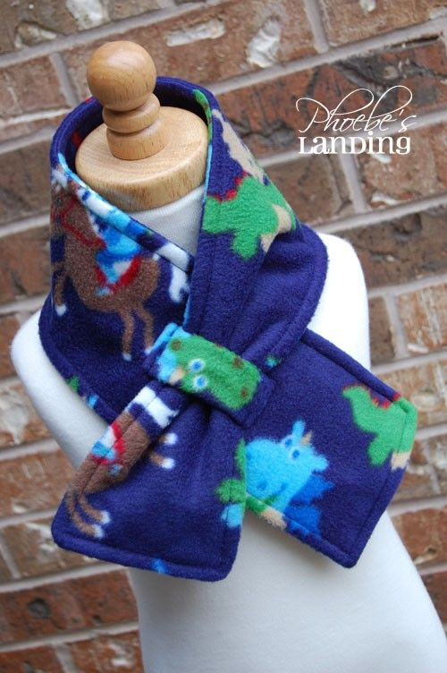 Little Knight... Fleece Scarflette by phoebeslanding on Etsy