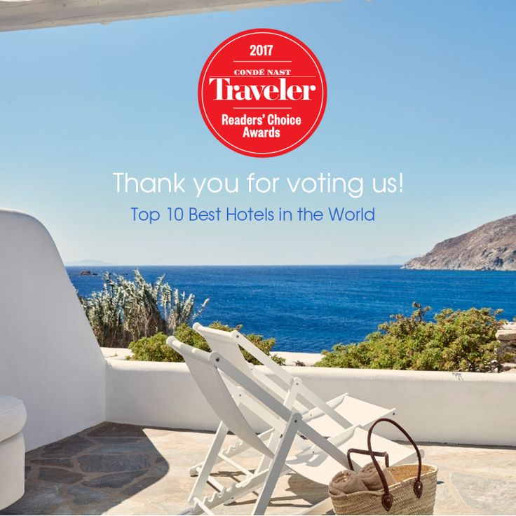 We are thrilled to be awarded as one of the Top 10 Best Hotels in the World in the prestigious Condé Nast Traveler Readers' Choice Award 2017! Thank you to our cherished guests for supporting us throughout the years! #thankyou #ArchipelagosMykonos #ArchipelagosLiving #RCA2017 #besthotelsintheworld