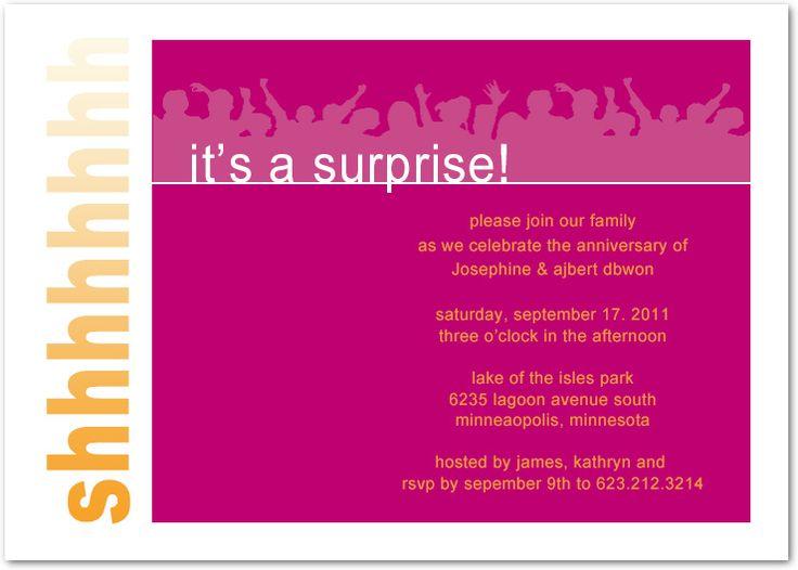 33 best wedding anniversary invitations images on pinterest cheer up surprise anniversary invitations hpa183 stopboris Gallery