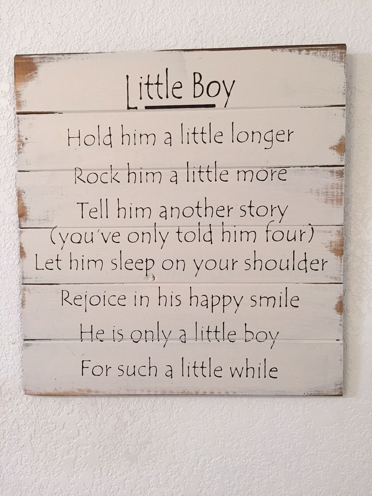 A personal favorite from my Etsy shop https://www.etsy.com/listing/253487284/little-boy-hold-him-a-little-longer-tell