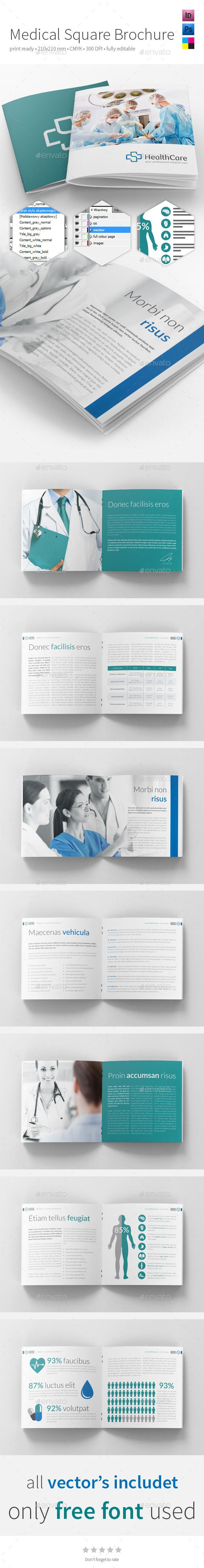 Medical Square Brochure 210x210mm — InDesign INDD #medicine #health • Available here → https://graphicriver.net/item/medical-square-brochure-210x210mm/11048959?ref=pxcr