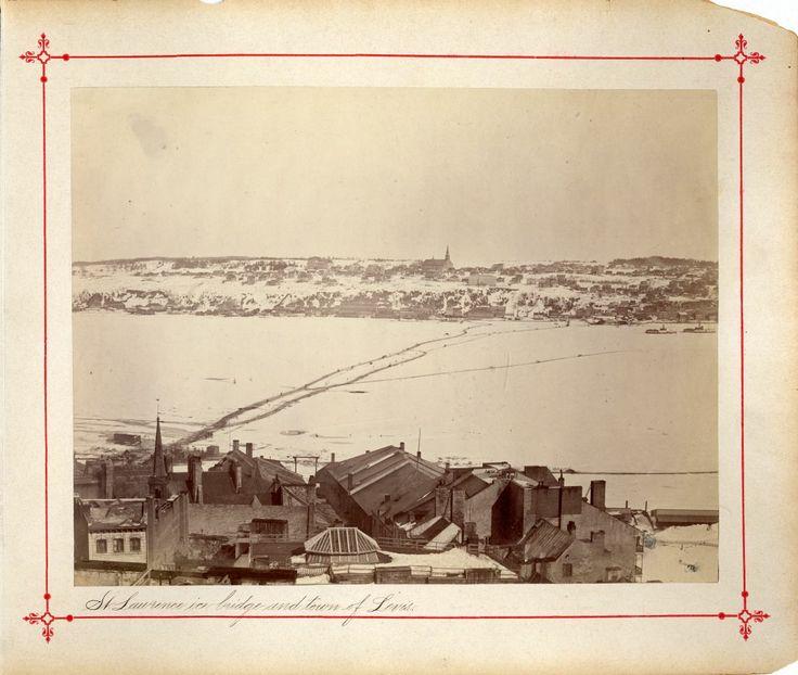 Pont de glace, vers 1880 entre Québec et Lévis