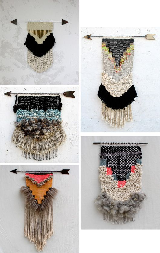 Microtrend: Let's Talk About Woven Wall Hangings - cute arrow hanging rods.