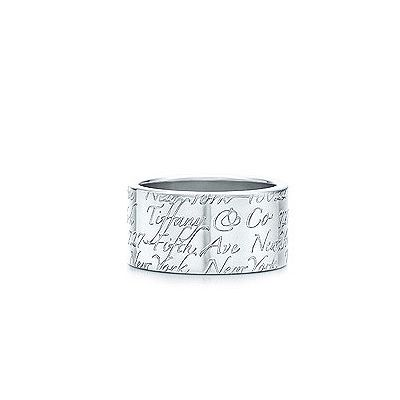 Tiffany Wide Notes Ring