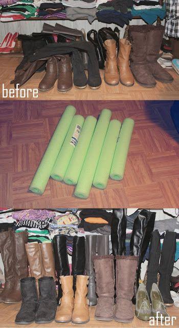 Closet Organization: Cheap DIY Boot Fillers