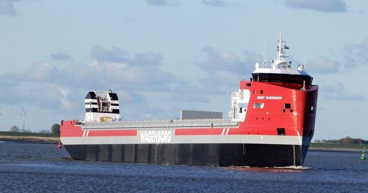 26 april 2017 aankomst in Delfzijl vanavond, hield vandaag een proefvaart op de Noordzee   EGBERT WAGENBORG  Bouwjaar 2017, imonummer 980269...