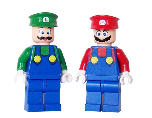Mario & Luigi Custom LEGO Minifigures by miniBIGS, via Flickr
