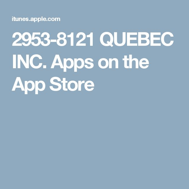 2953-8121 QUEBEC INC. Apps on the App Store