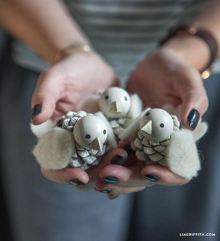 Felt_Pinecone_Birds_Ornaments_Hands
