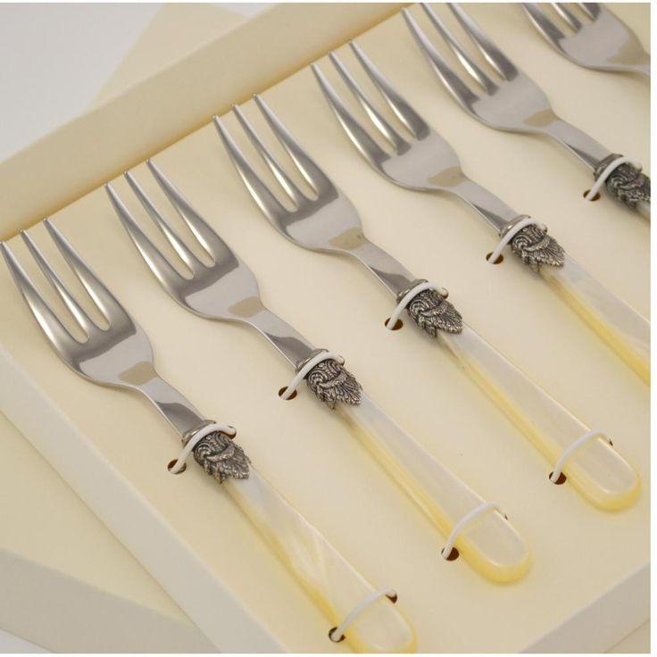 Confezione 6 Forchettine da Dolce NAPOLEON composizione scatolata | EME | Stilcasa.Net: Forchetta da Dolce