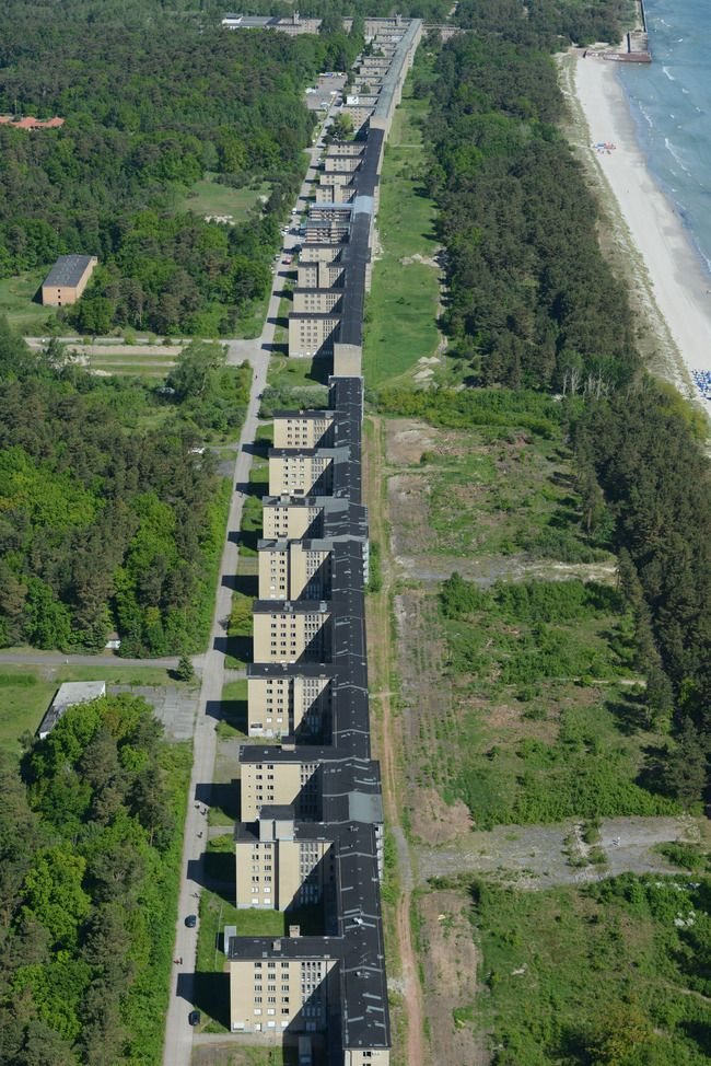 Prora - Nazi hotel, never finished!!! Faces one of the best beaches on the Baltic Sea