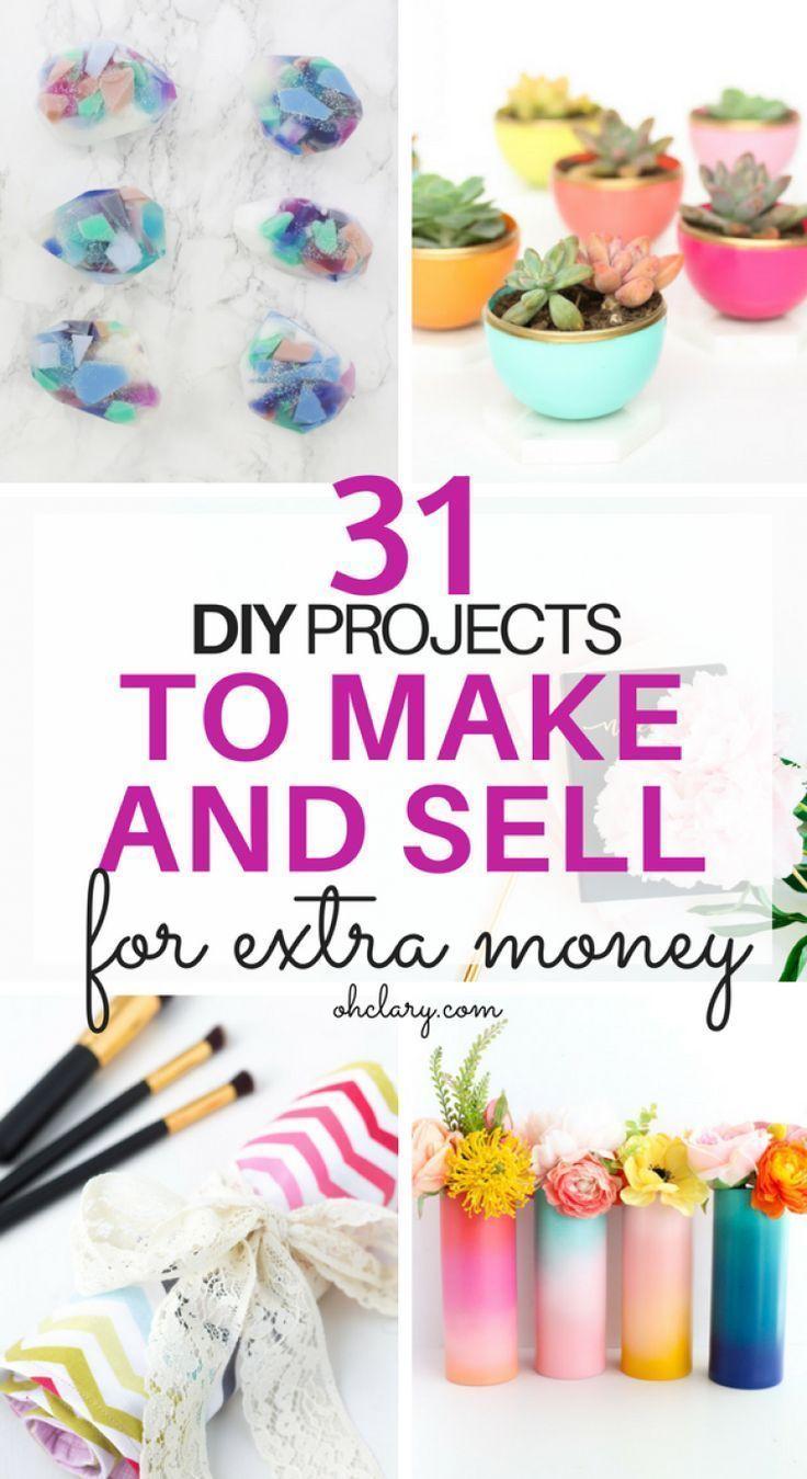 Heiße Bastelideen zum Verkauf – über 30 Bastelideen von zu Hause aus basteln und verkaufen …   – DIY-Projekte einfach zu verkaufen