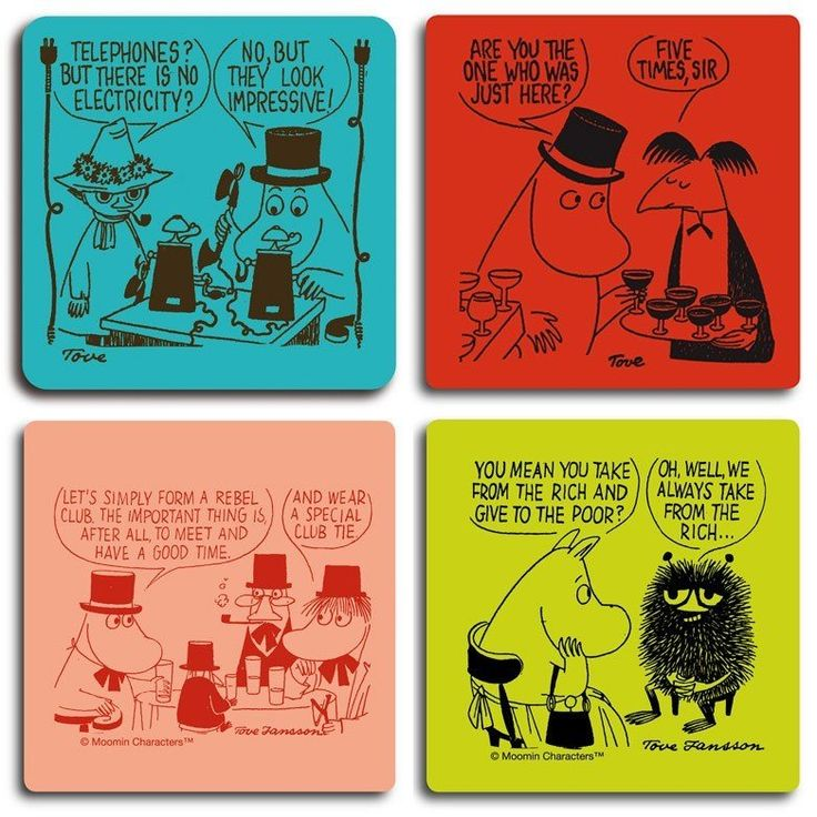 Moomin and the rich and impressive coaster set by Opto Design - The Official Moomin Shop  - 1
