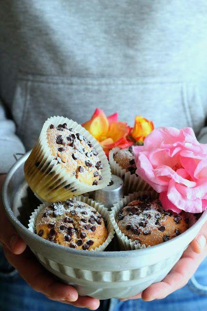 muffin ricotta e gocce di cioccolata nella pentola fornetto versilia