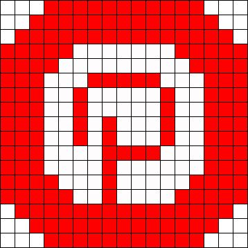 Logo Pinterest Perler Bead Pattern / Bead Sprite