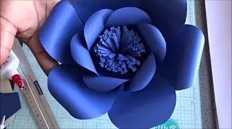 Como hacer Flores de papel (Rosas) facil - YouTube