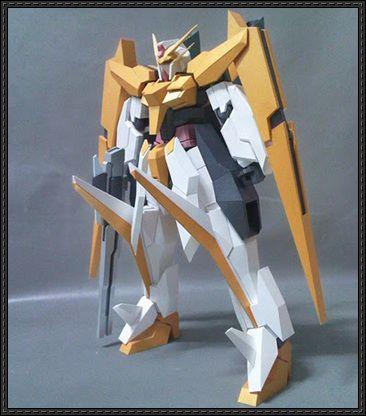 GN-007 Arios Gundam Papercraft Free Template Download - http://www.papercraftsquare.com/gn-007-arios-gundam-papercraft-free-template-download.html