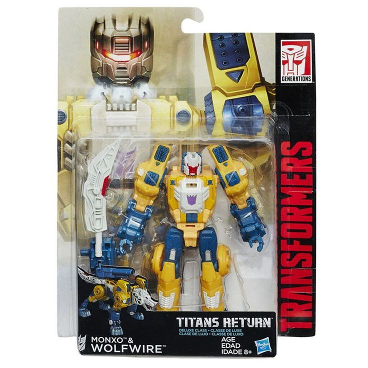 Transformers Titans Return Deluxe Wolfwire & Monxo