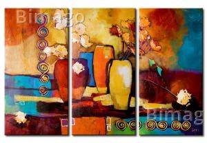 Objetivo - cuadro moderno, cuadros abstractos coloridos - Bimago
