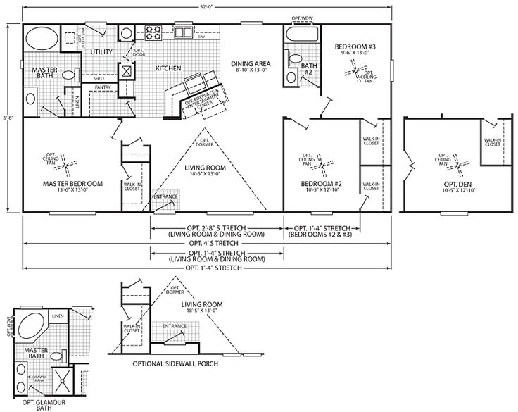 30 best mobile home floor plans images on pinterest for Washington home plans