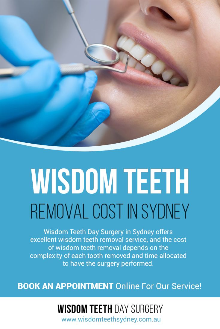 Wisdom Teeth Day Surgery in Sydney offers excellent wisdom teeth removal service, and the #cost_of_wisdom_teeth_removal depends on the complexity of each tooth removed and time allocated to have the surgery performed.