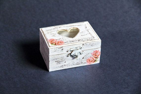 Ring Bearer Wooden Wedding Box with Roses  Vintage by ShimmerPlace, $12.00
