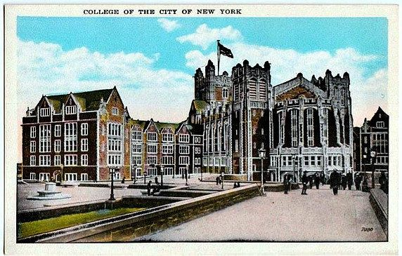 Vintage Postcard The City College Of New York New York City Unused City College City Postcard City