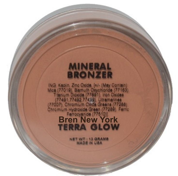 Mineral Bronzer - Terra Glow Paraben Free For natural looking, sun kissed skin! Practically weightless, you can brush on anywhere you desire for that healthy, beautiful glow.