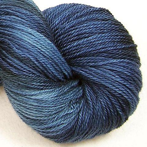 "Intrepid Tulips' Sock in ""Urban Night"". A fantastic blue!"