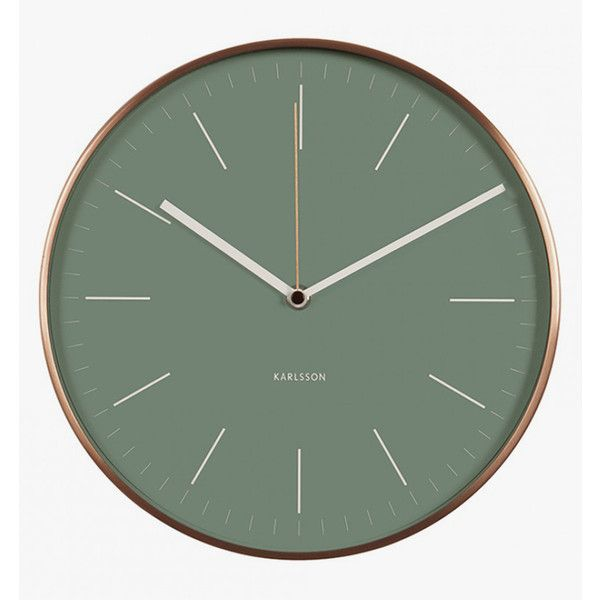 Karlsson Minimal Wall Clock (4,260 INR) ❤ liked on Polyvore featuring home, home decor, clocks, battery powered clock, karlsson clocks, karlsson, battery operated wall clock and round clock