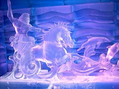 Mark Daukas' King Neptune ice sculpture at the 2011 OC Fair Ice Museum