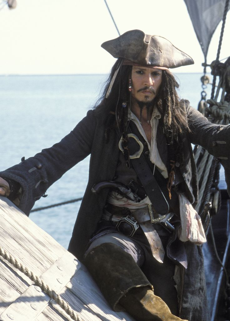 """Jack Sparrow Pirates Posing Tips.  A stare that's just off camera says """"bring me that horizon"""""""
