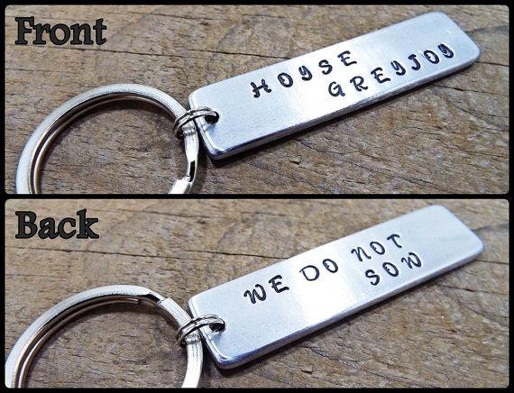 House Greyjoy  We Do Not Sow Keychain  FREE by Aluminiopassions