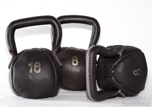 Leather kettlebells