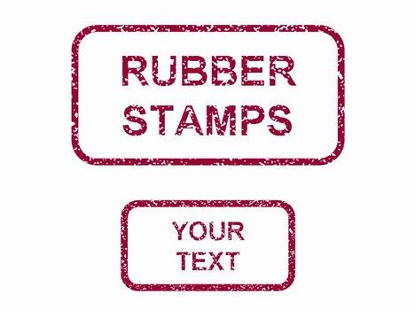 rubber stamps in powerpoint powerpoint template one of a number