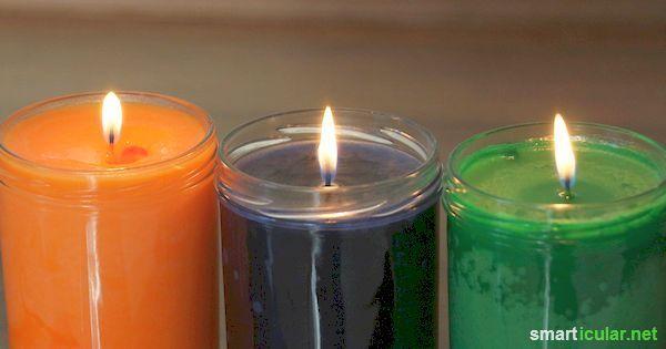 Klassische Kerzen braucht es eigentlich nicht mehr. Mit Pflanzenfett und ein paar einfachen Utensilien lassen sich lang leuchtende Kerzen herstellen!