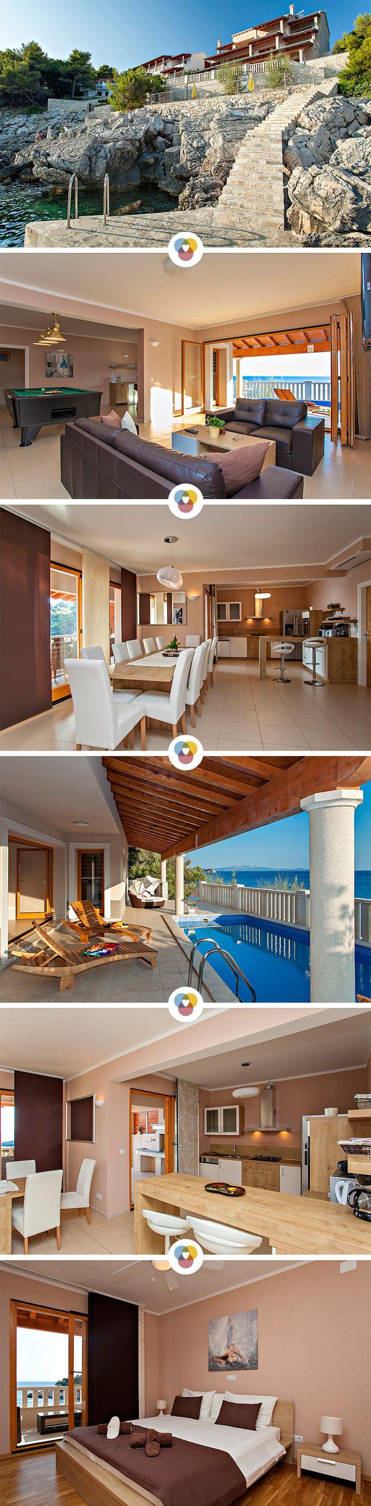 Urlaub in einer Villa muss kein Traum bleiben, denn wer mit einer Großfamilie oder den lieben Freunden verreist, kann sich auch Luxus leisten. Die Villa Vanda ist ein besonderes Ferienhaus in der kroatischen Ferienregion Korčula und hat Platz für 12 sonnenhungrige Urlauber.