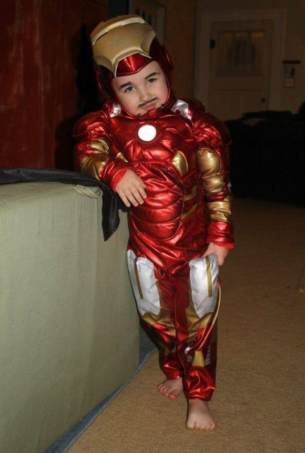 Little Iron Man - he's got the attitude and the mustache right! Jajaja