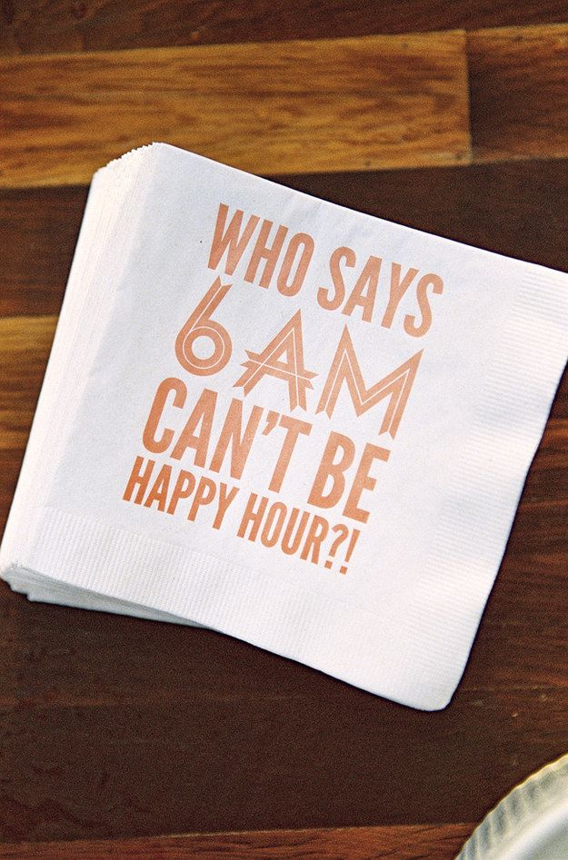 And because as long as you keep the mimosas, bellinis, and Bloody Marys flowing, everyone will rise and shine.