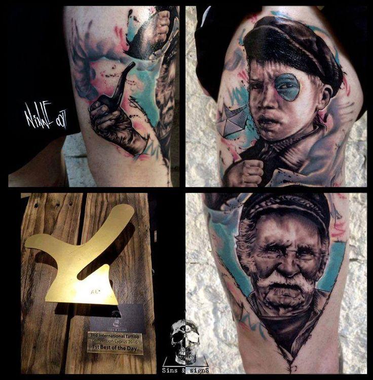 Tattoo Art By 9.oat   https://www.instagram.com/ninneoat/