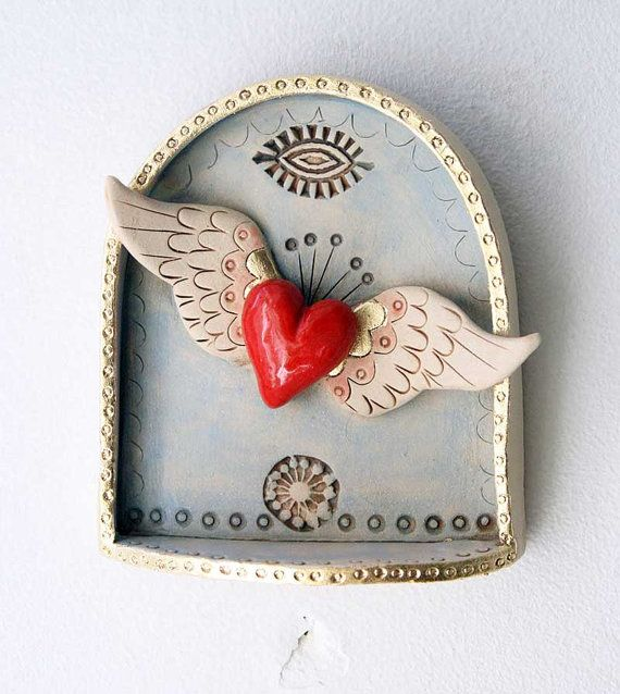 Winged Heart Shrine by jolucksted on Etsy