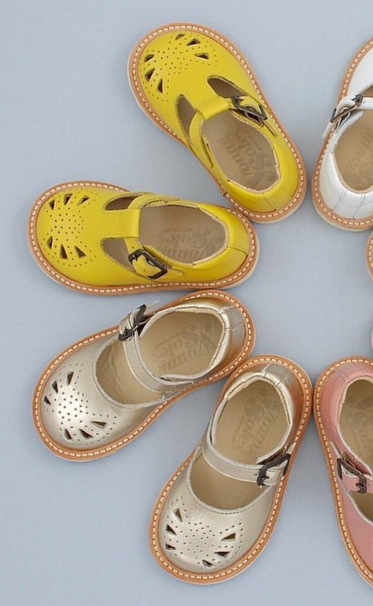 Yellow And Gold Mary Janes For Little Girls Kid Shoes
